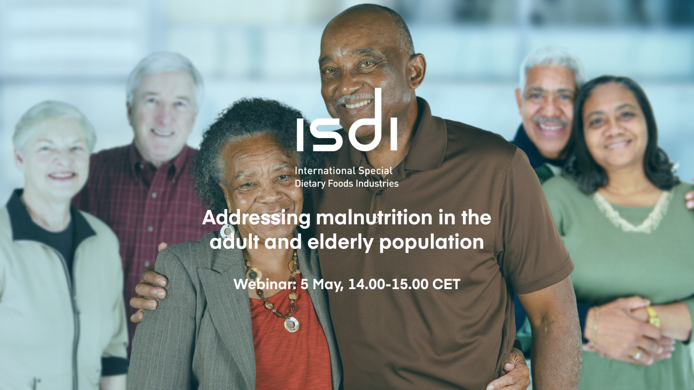 Join our 'Addressing Malnutrition in the Adult & Elderly Population' webinar on 5 May