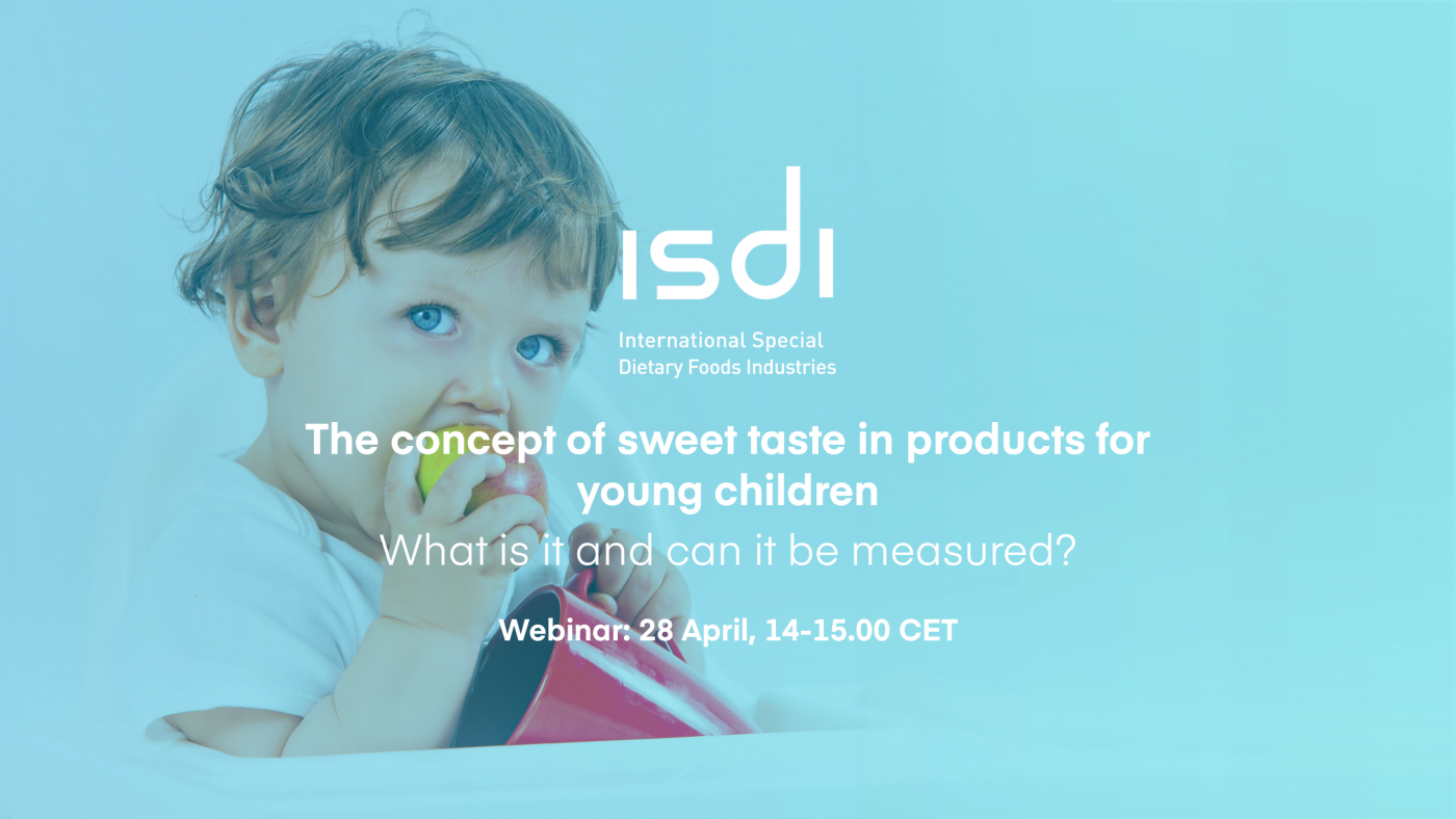 Join our webinar 'The concept of sweet taste in products for young children: what is it and can it be measured?' on 28 April
