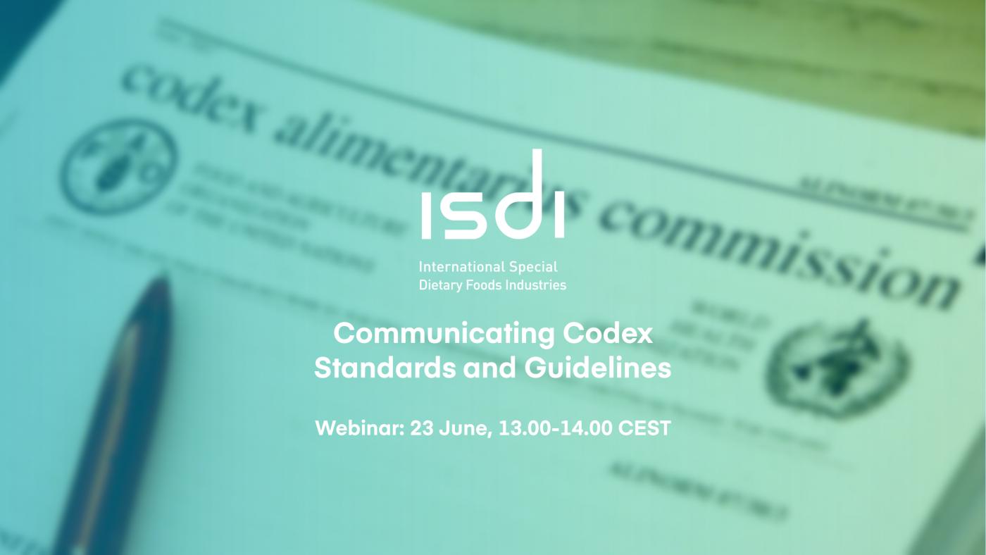 ISDI Webinar: Communicating Codex Standards and Guidelines