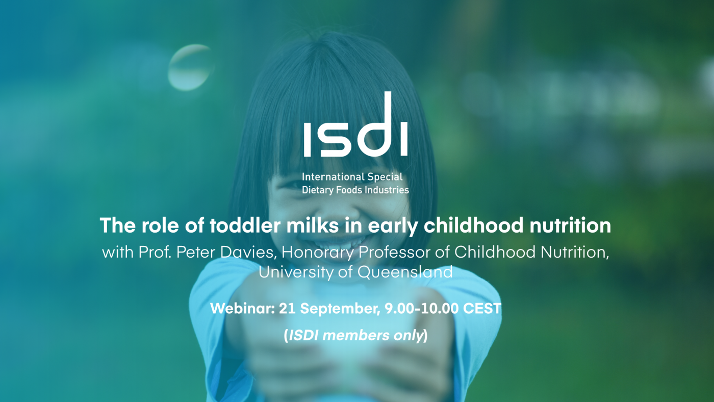 ISDI webinar: The role of toddler milks in early childhood nutrition
